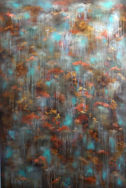 haldane-waterlilies-195-x-130cm-x3-5cm-deepoil-mixed-media-on-canvas