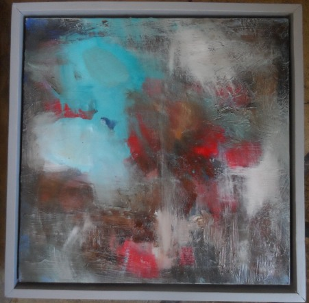 haldanea-touch-of-blue-44cm-x-44cmx-3cmfloat-framed-oil-mixed-media-on-panel