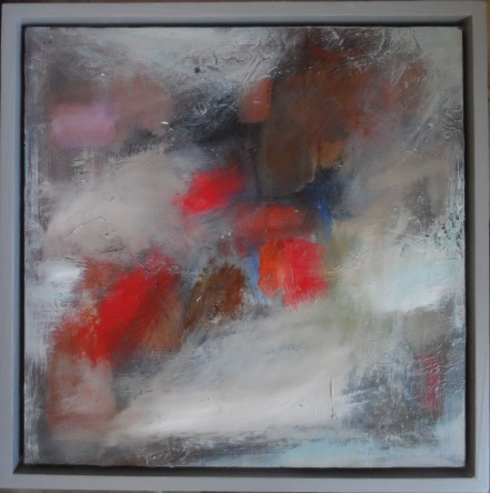 haldanethe-dance44cm-x-44cmx-3cmfloat-framed-oil-mixed-media-on-panel