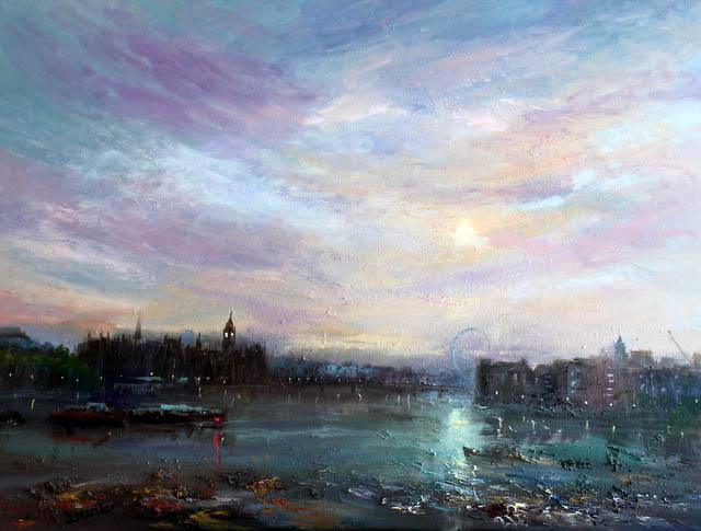 london-early-morning-sun-90x120-cm