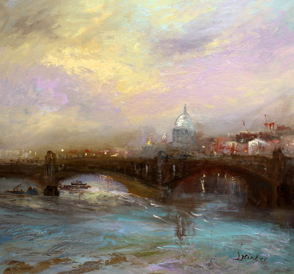 london-st-pauls-and-southwark-bridge-evening-71x76-cm-28x30-inches