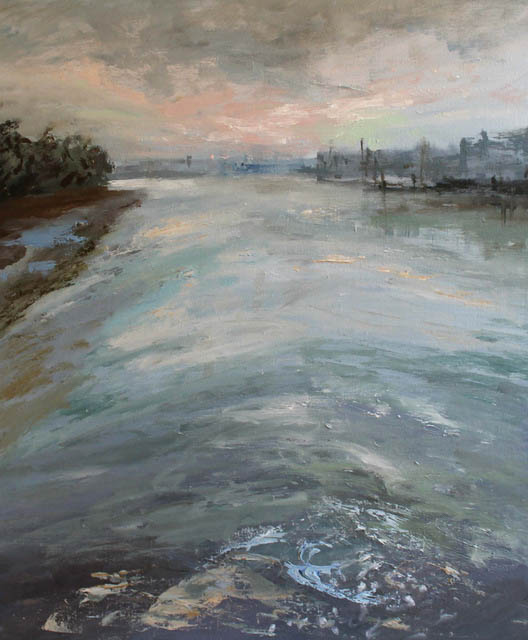 london-the-glittering-river-oil-l-on-canvas-61x51-cm