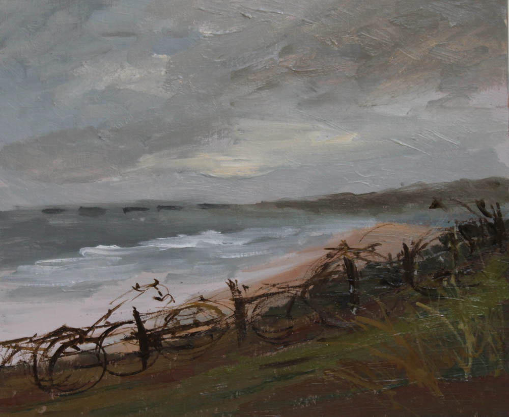 normandy-looking-east-towards-sword-oil-on-board-26x30-cm